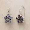 IOLITE FLOWER EARRINGS: View 1
