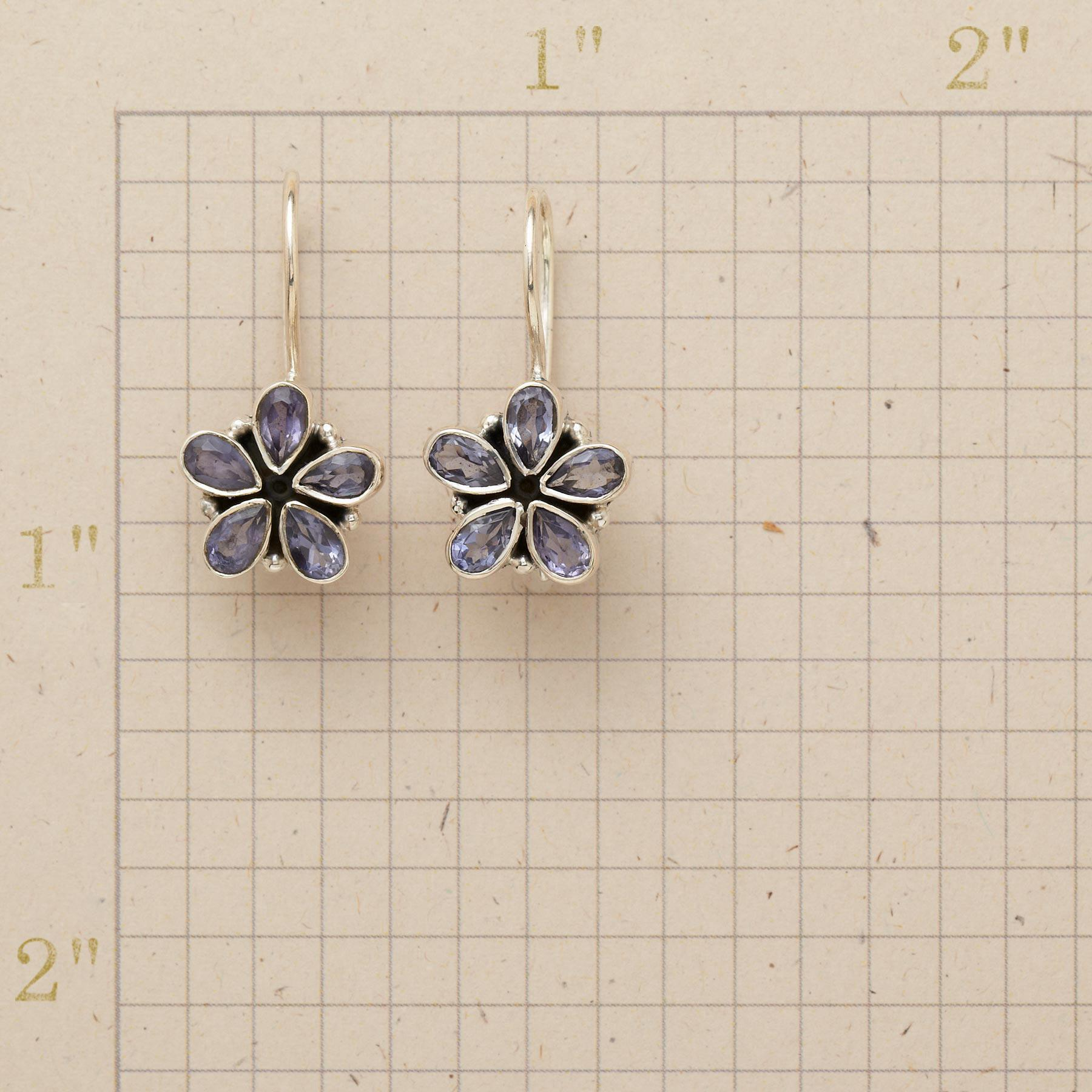 IOLITE FLOWER EARRINGS: View 2