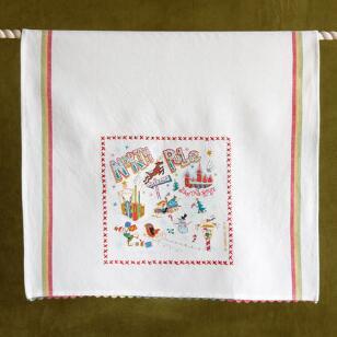 SOUVENIR NORTH POLE TEA TOWEL
