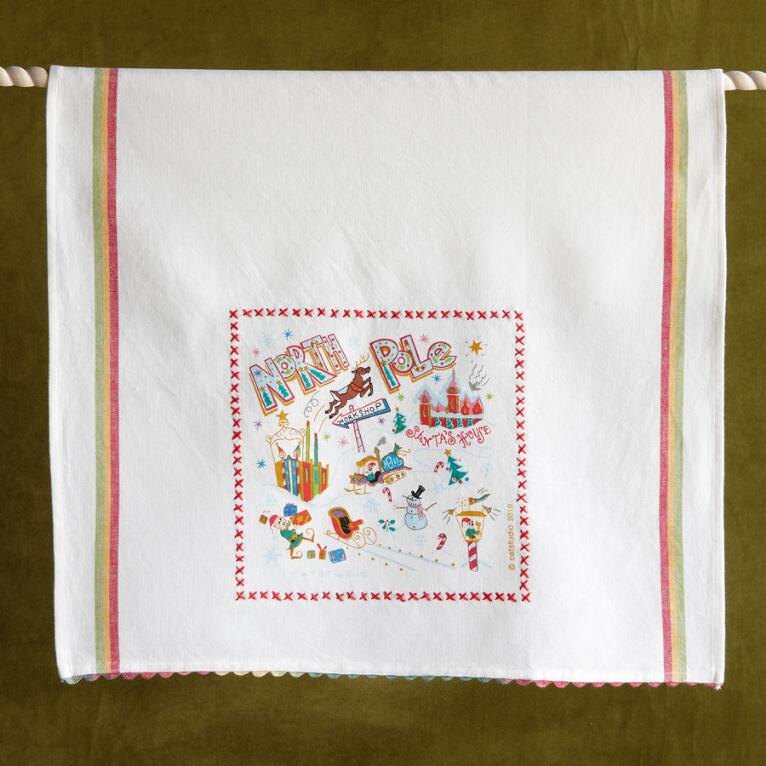 SOUVENIR NORTH POLE TEA TOWEL