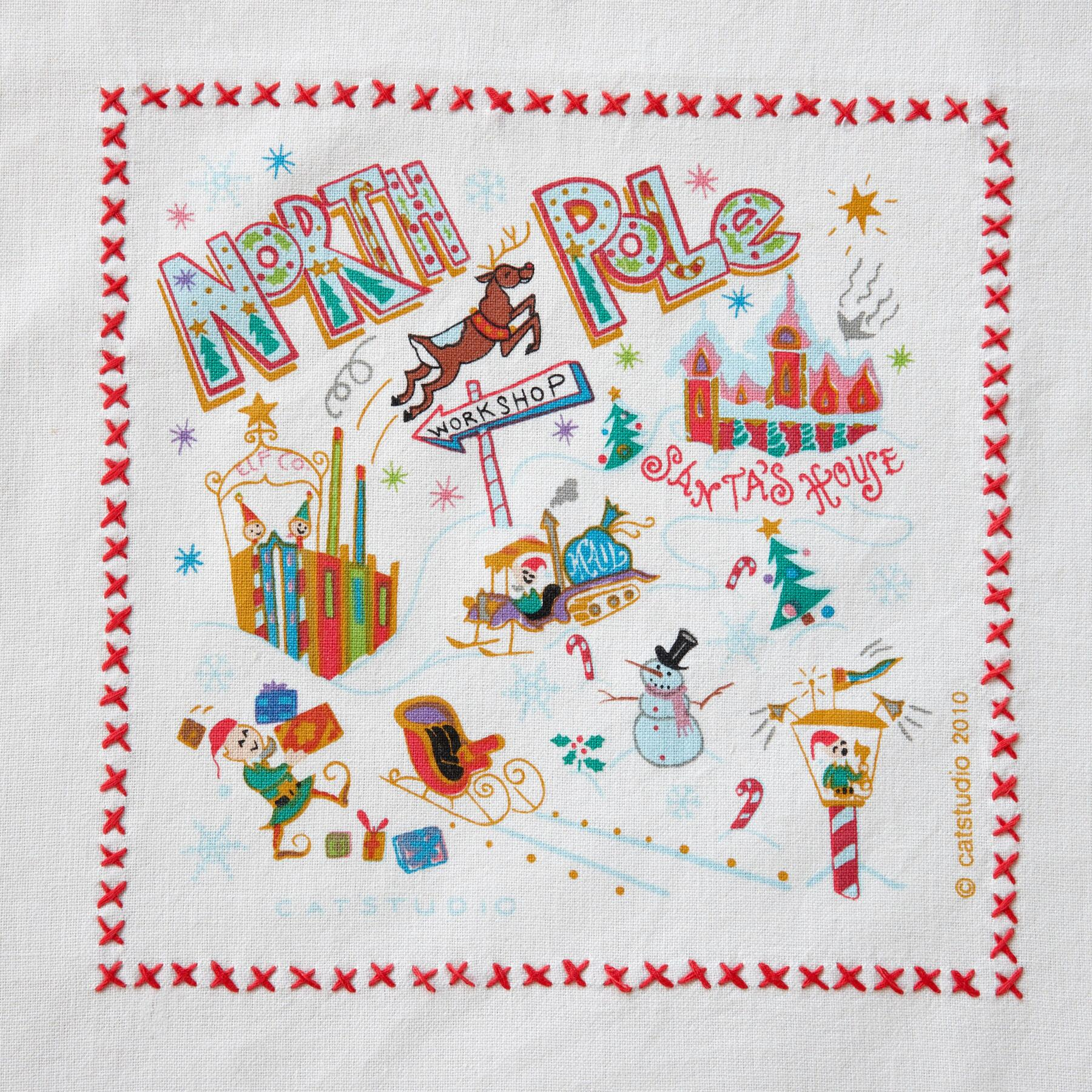 SOUVENIR NORTH POLE TEA TOWEL: View 2