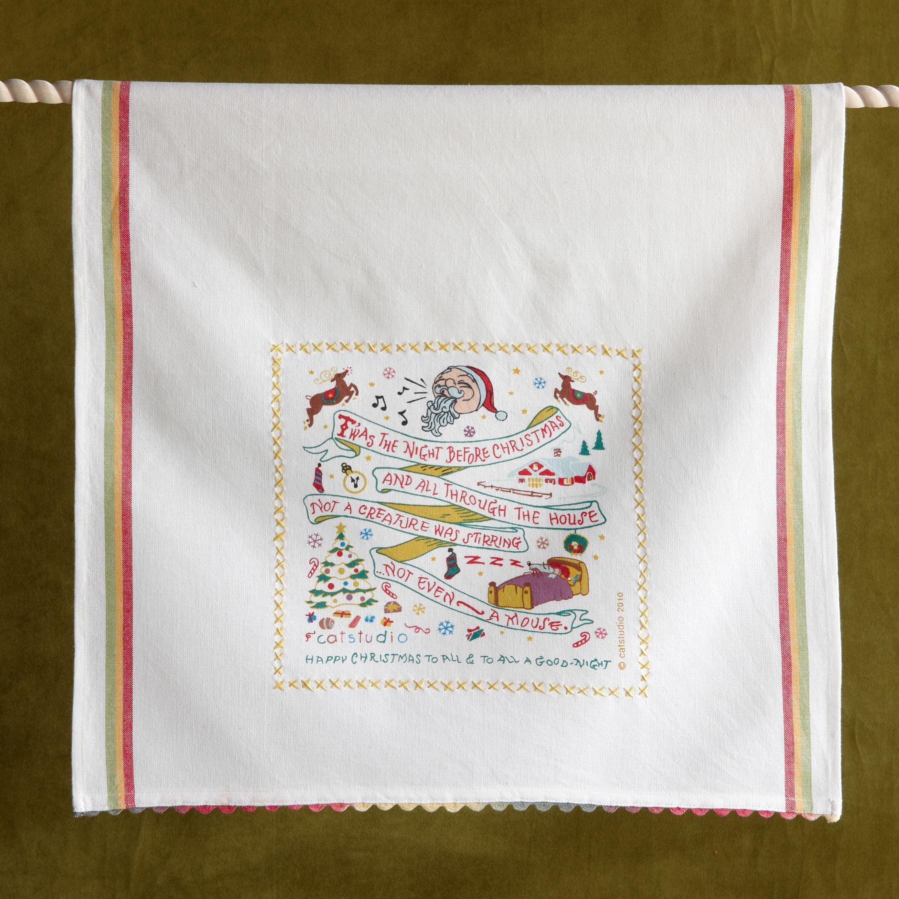 SOUVENIR CHRISTMAS TEA TOWEL: View 1