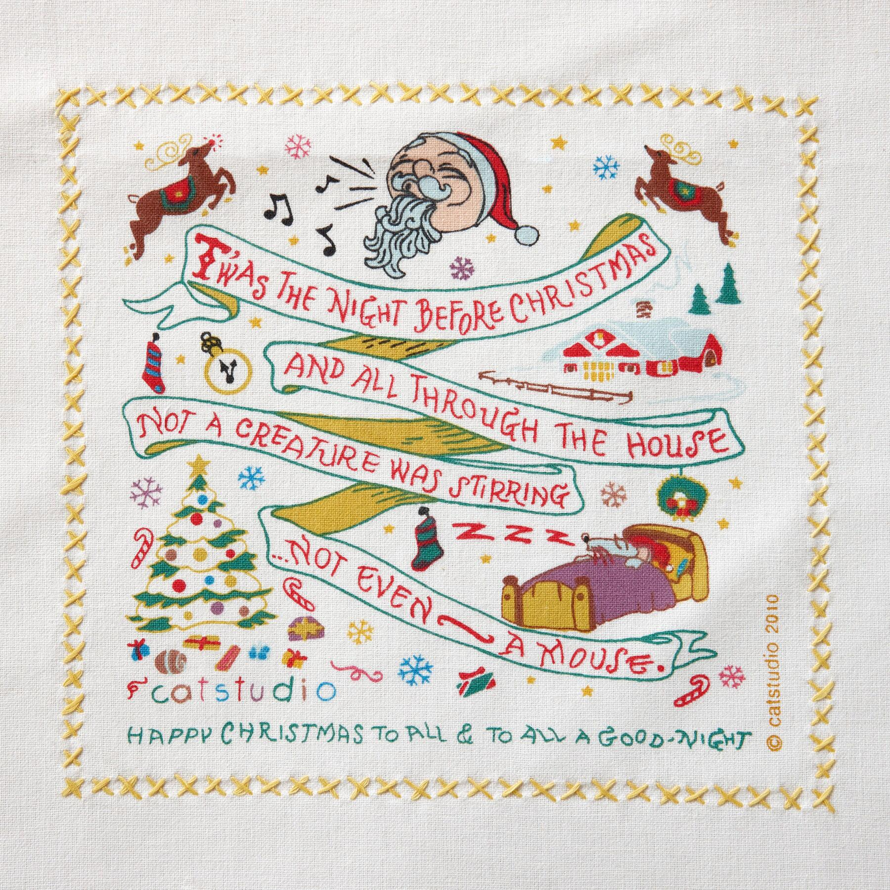 SOUVENIR NIGHT BEFORE CHRISTMAS TEA TOWEL: View 2