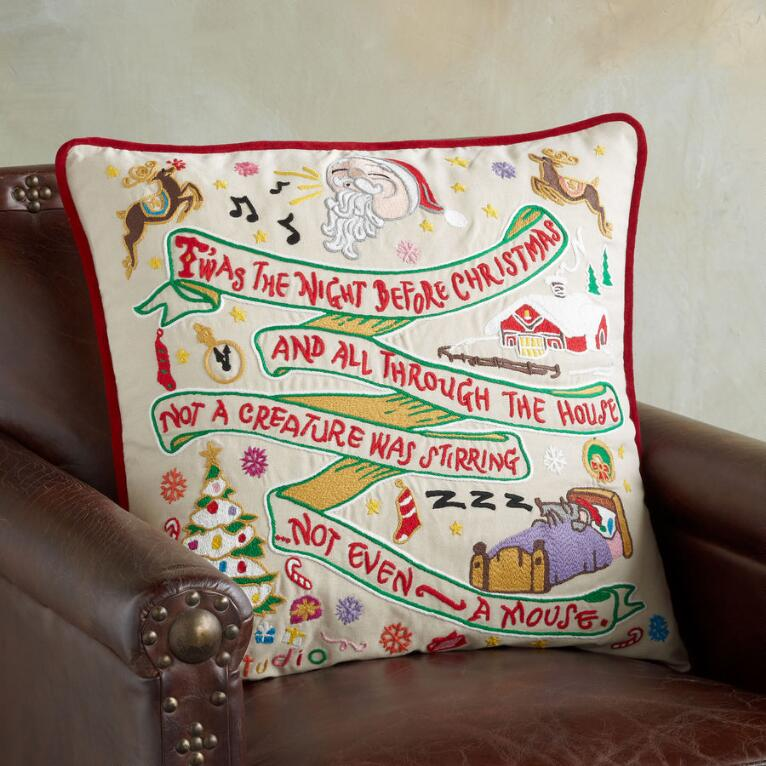 SOUVENIR NIGHT BEFORE CHRISTMAS PILLOW