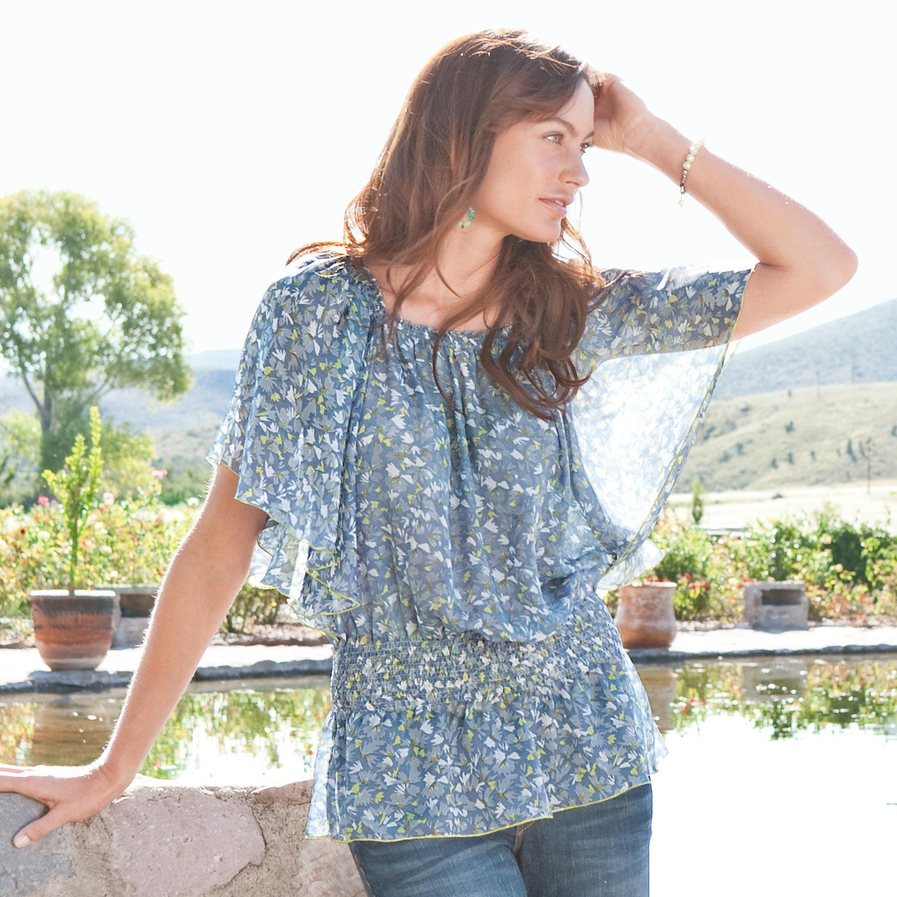GIVERNY WATER GARDEN TUNIC: View 1
