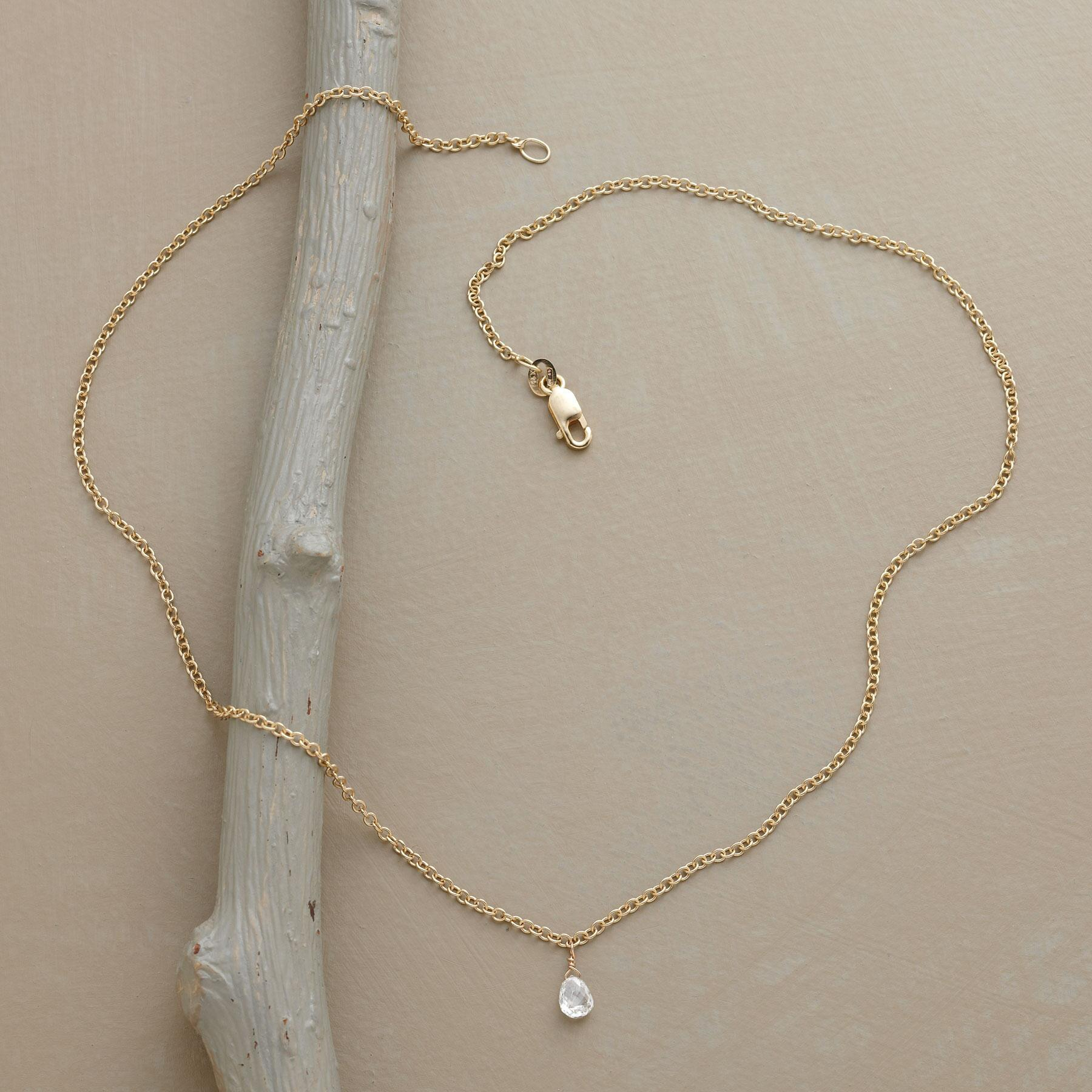 BRILLIANT DIAMOND BRIOLETTE NECKLACE: View 2