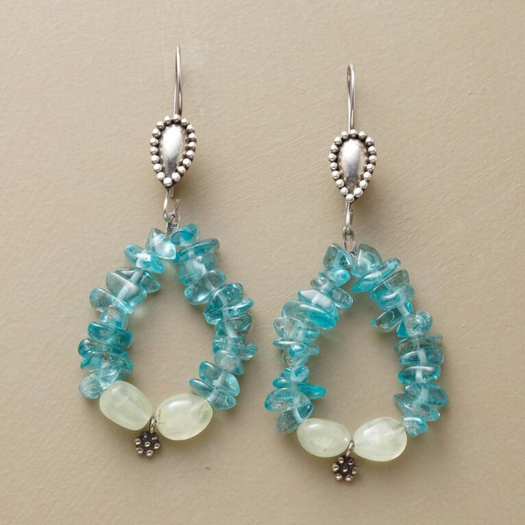 BLUE GREEN APATITE EARRINGS