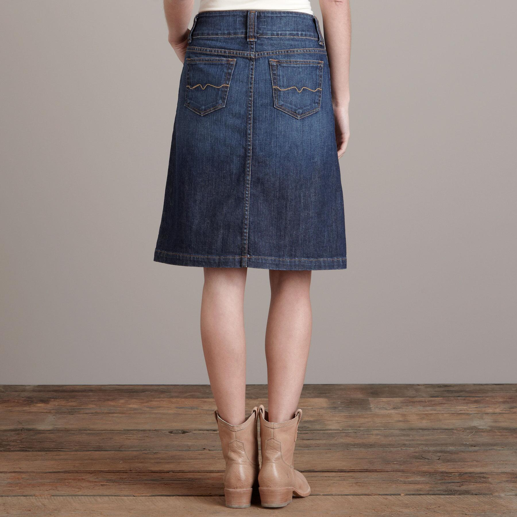 CLARE A-LINE DENIM SKIRT BY RED ENGINE: View 2