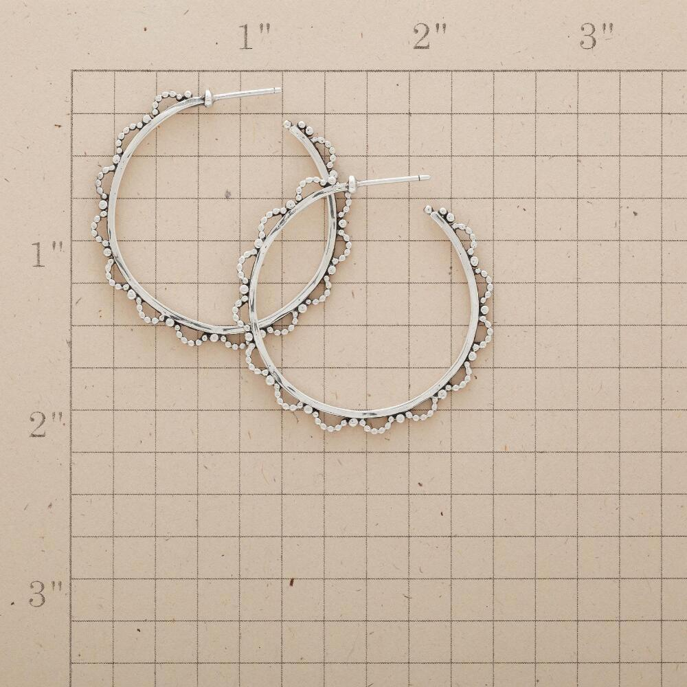 LACY BEADED HOOPS: View 2