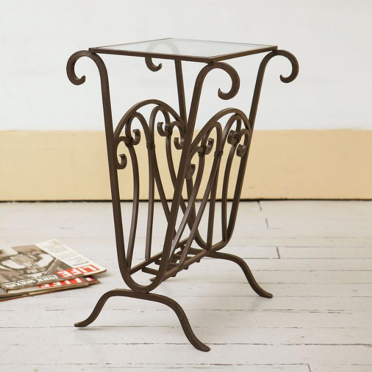 SCROLLWORK MAGAZINE SIDE TABLE