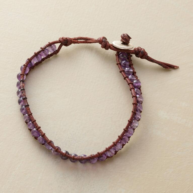 LADDER OF AMETHYSTS BRACELET