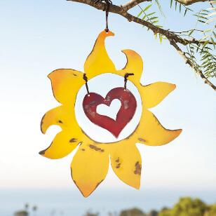 SUN HEART HANGING ART
