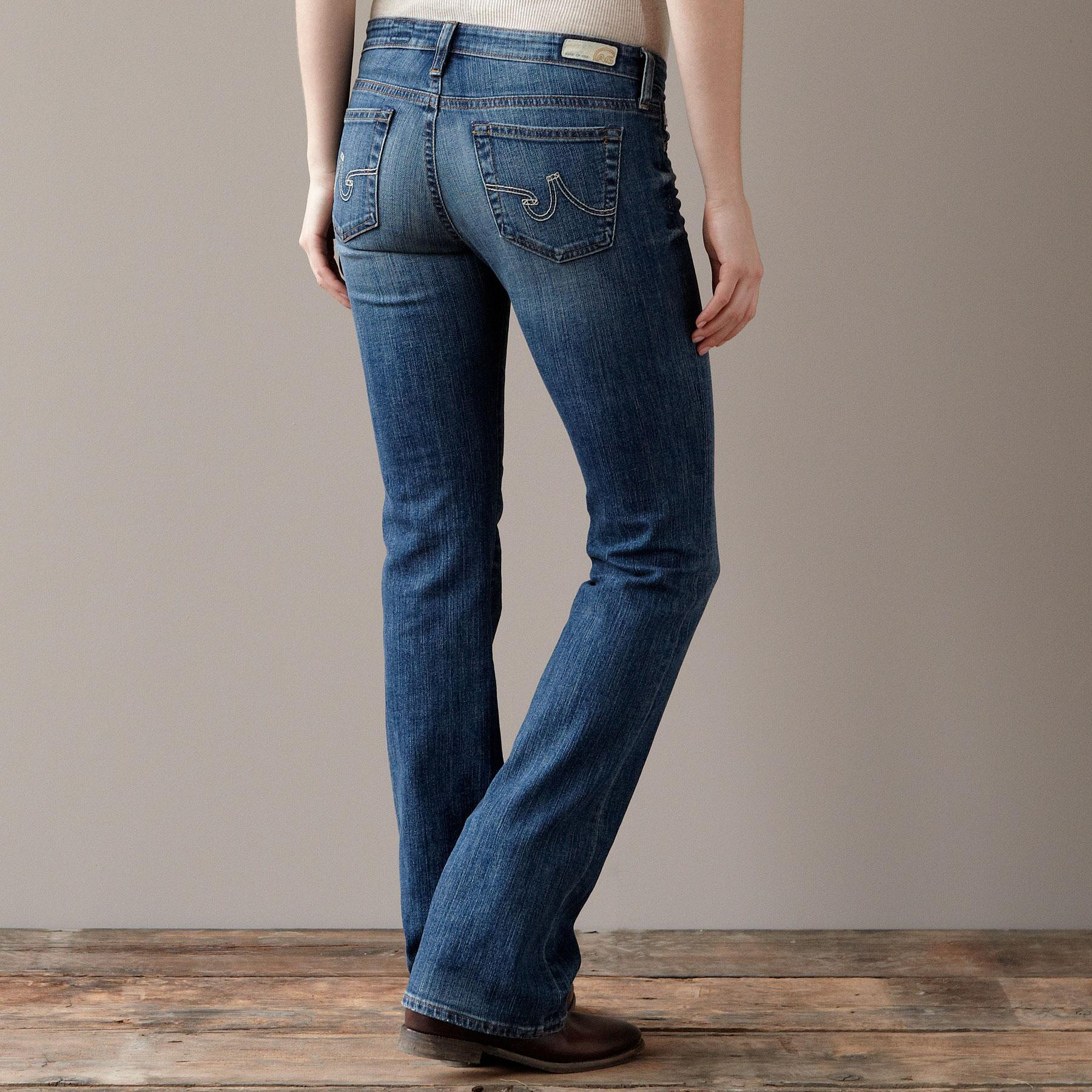 A G ANGEL BOOTCUT IN 14 YEAR WASH JEANS: View 2