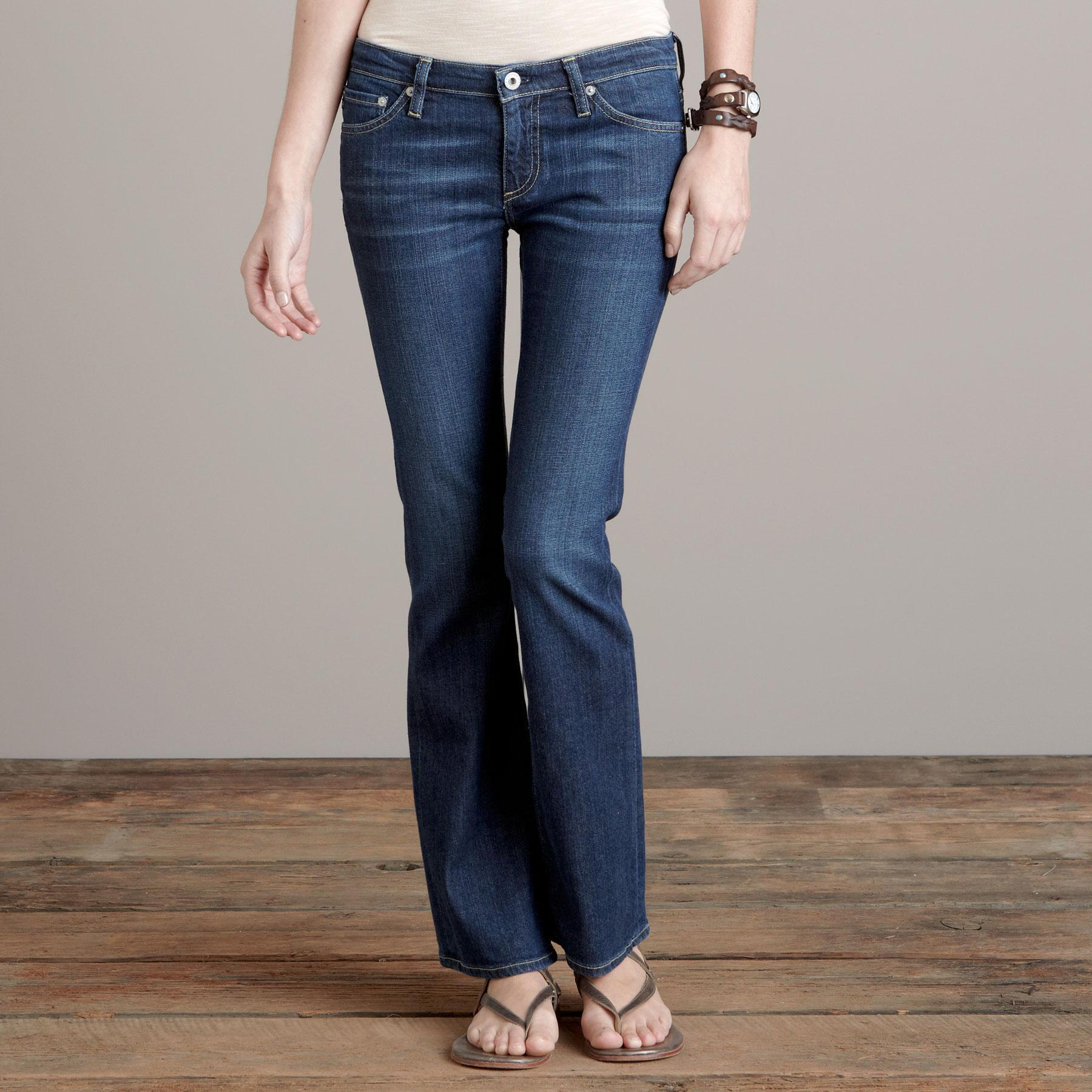 A G ANGELINA BOOTCUT IN GRANT WASH JEANS - PETITES: View 1