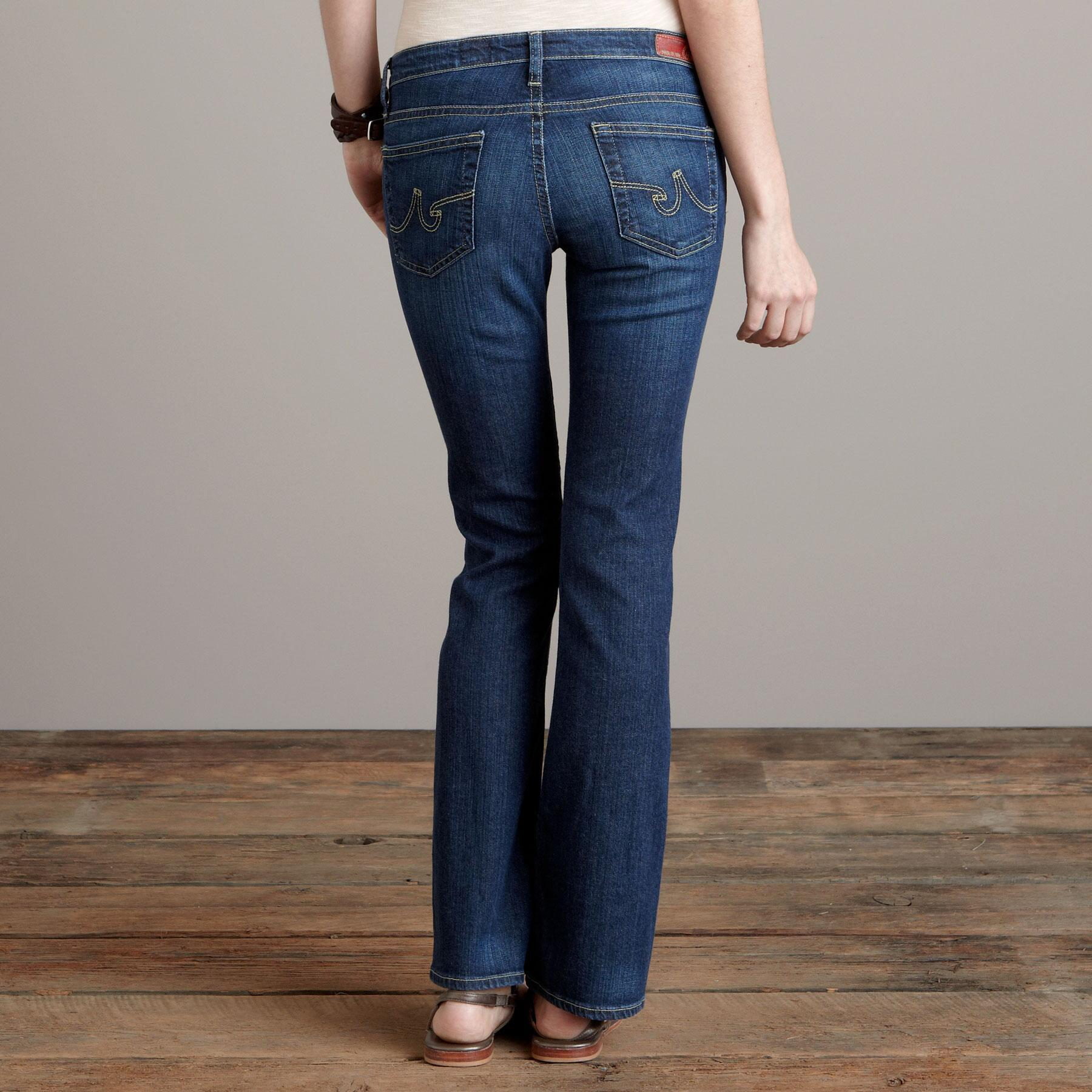 A G ANGELINA BOOTCUT IN GRANT WASH JEANS - PETITES: View 2