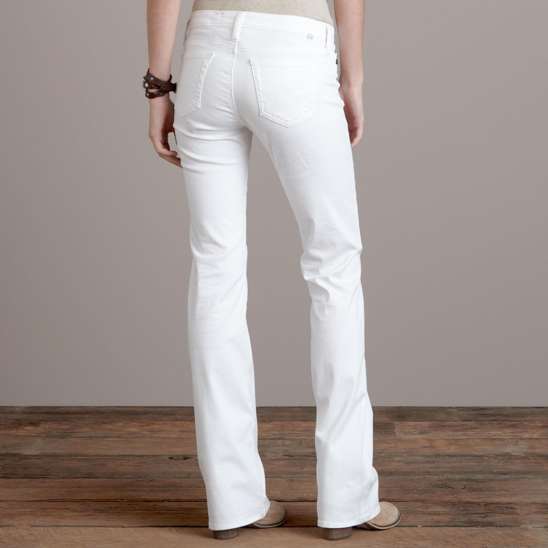 A G ANGEL WHITE BOOTCUT JEANS: View 2