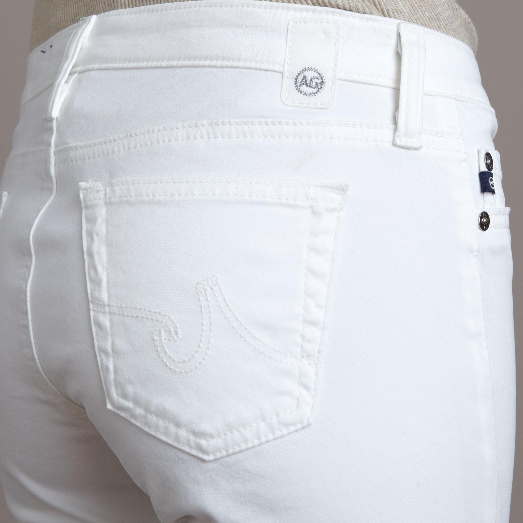 A G ANGEL WHITE BOOTCUT JEANS: View 3