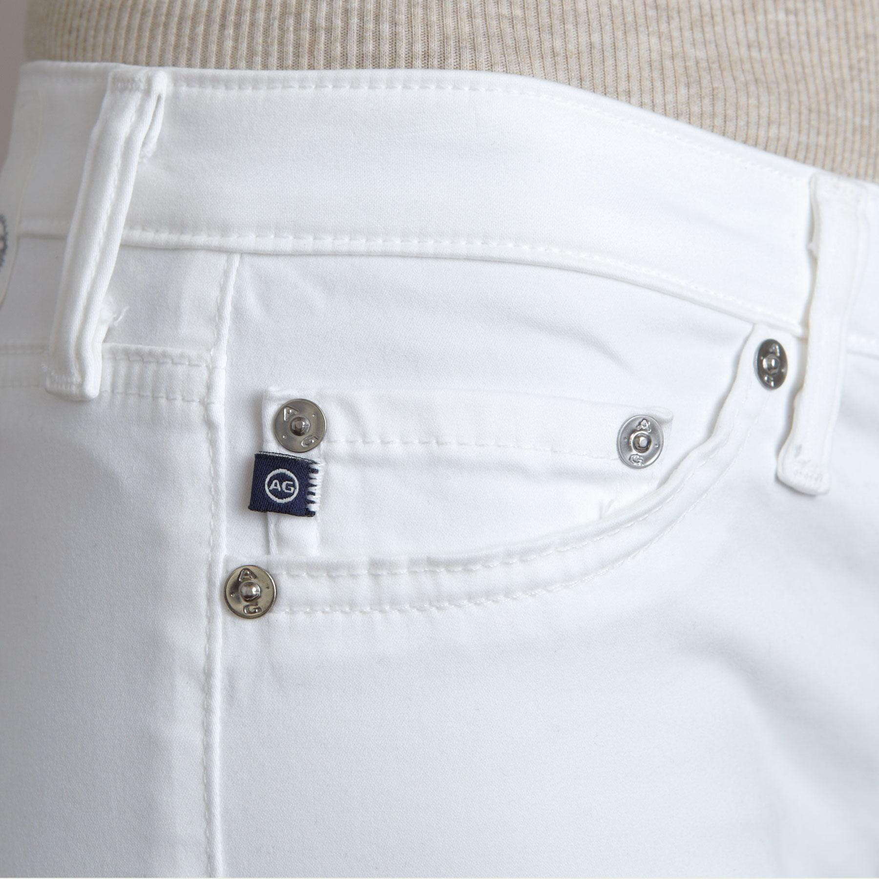 A G ANGEL WHITE BOOTCUT JEANS: View 4