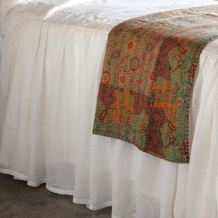 SAVANNAH LINEN COVERLET