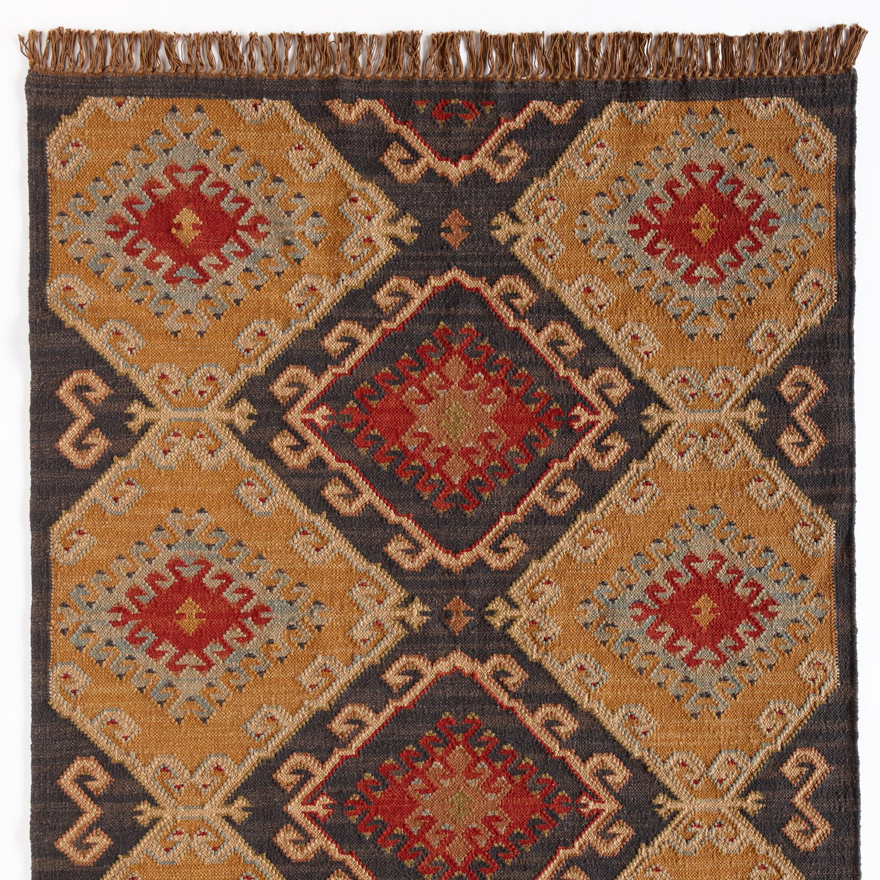 CELESTIAL DIAMOND DHURRIE RUG, LARGE: View 1