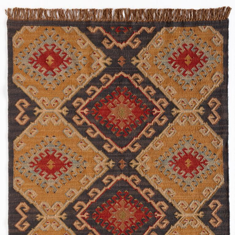 CELESTIAL DIAMOND DHURRIE RUG, LARGE