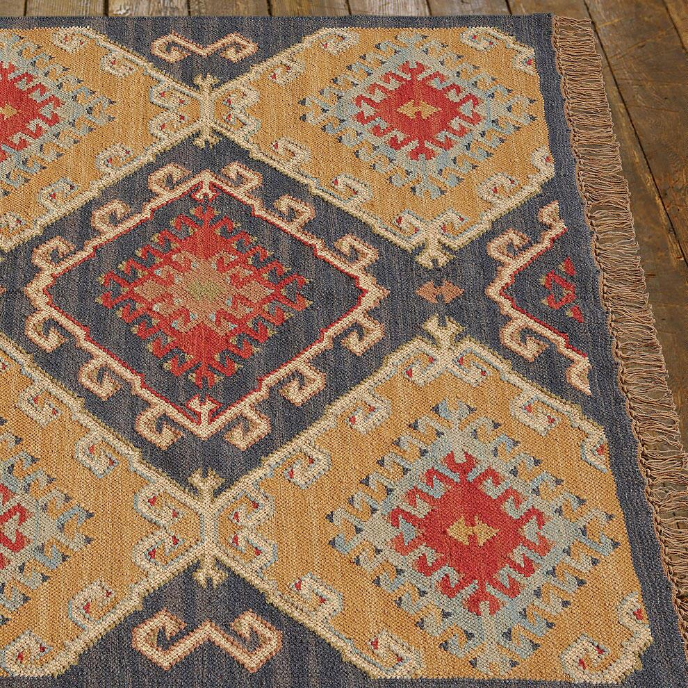 CELESTIAL DIAMOND DHURRIE RUG, LARGE: View 2