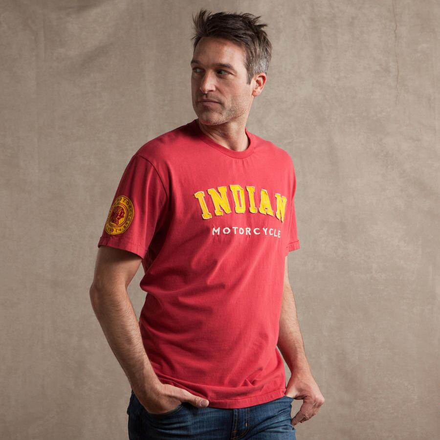 RED INDIAN APPLIQUE T-SHIRT