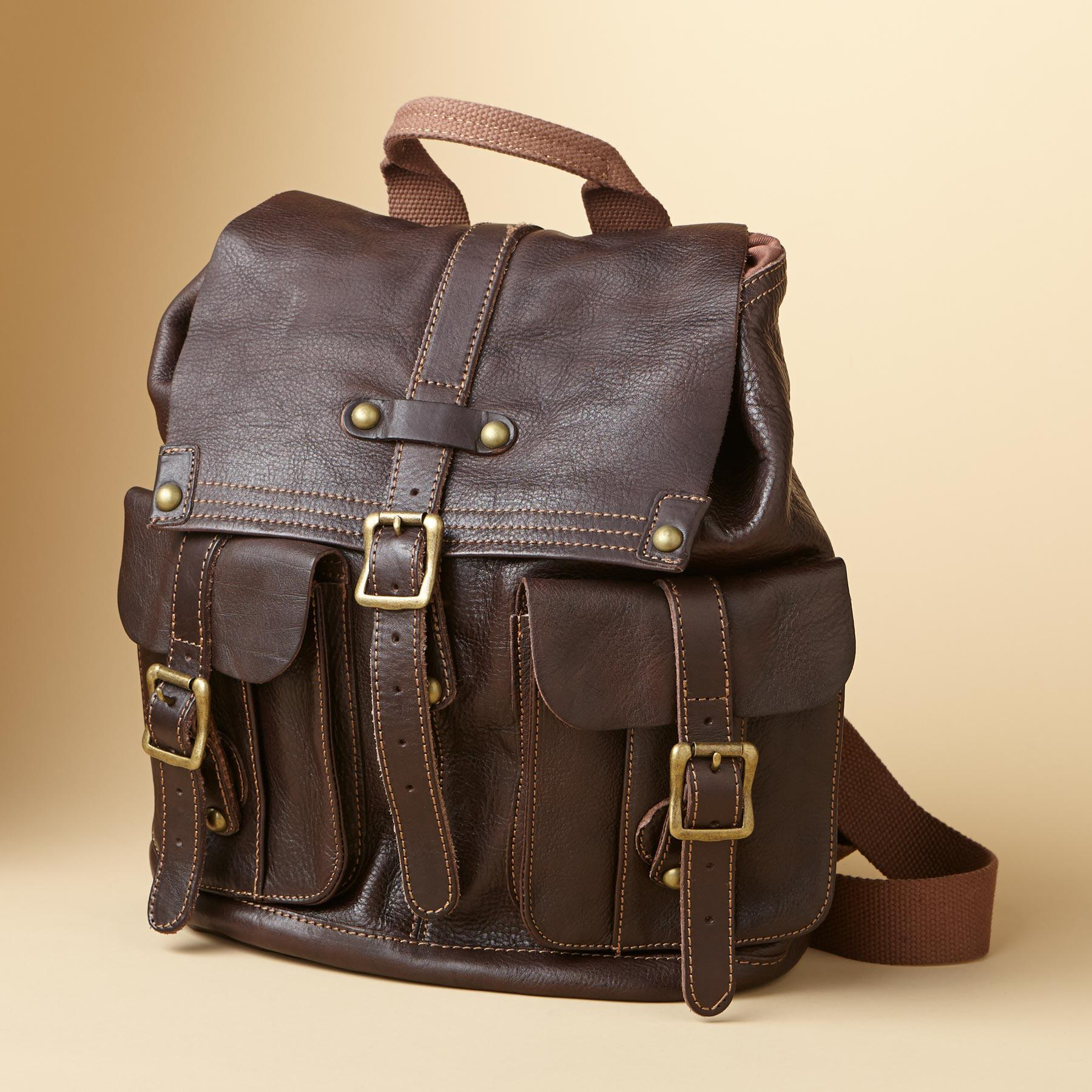 WASHED LEATHER BACKPACK: View 1