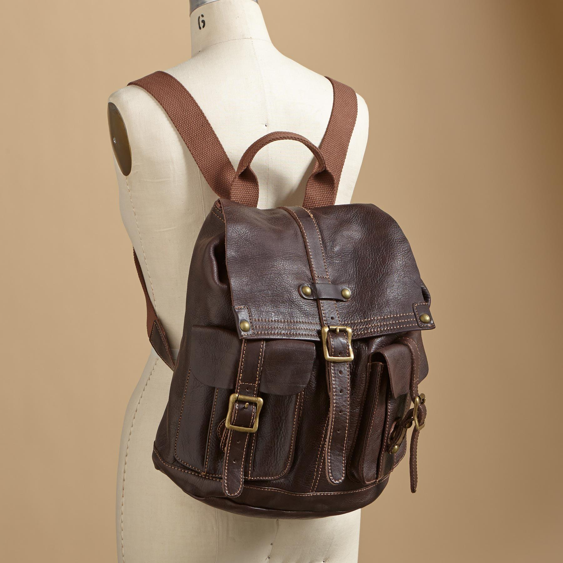 WASHED LEATHER BACKPACK: View 4