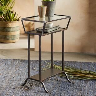 LOOKING GLASS SIDE TABLE