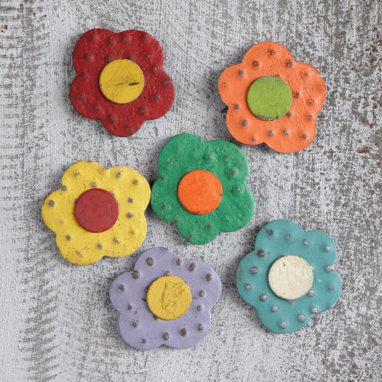 MAGNETIC FLOWER BLOOMS, SET OF 6