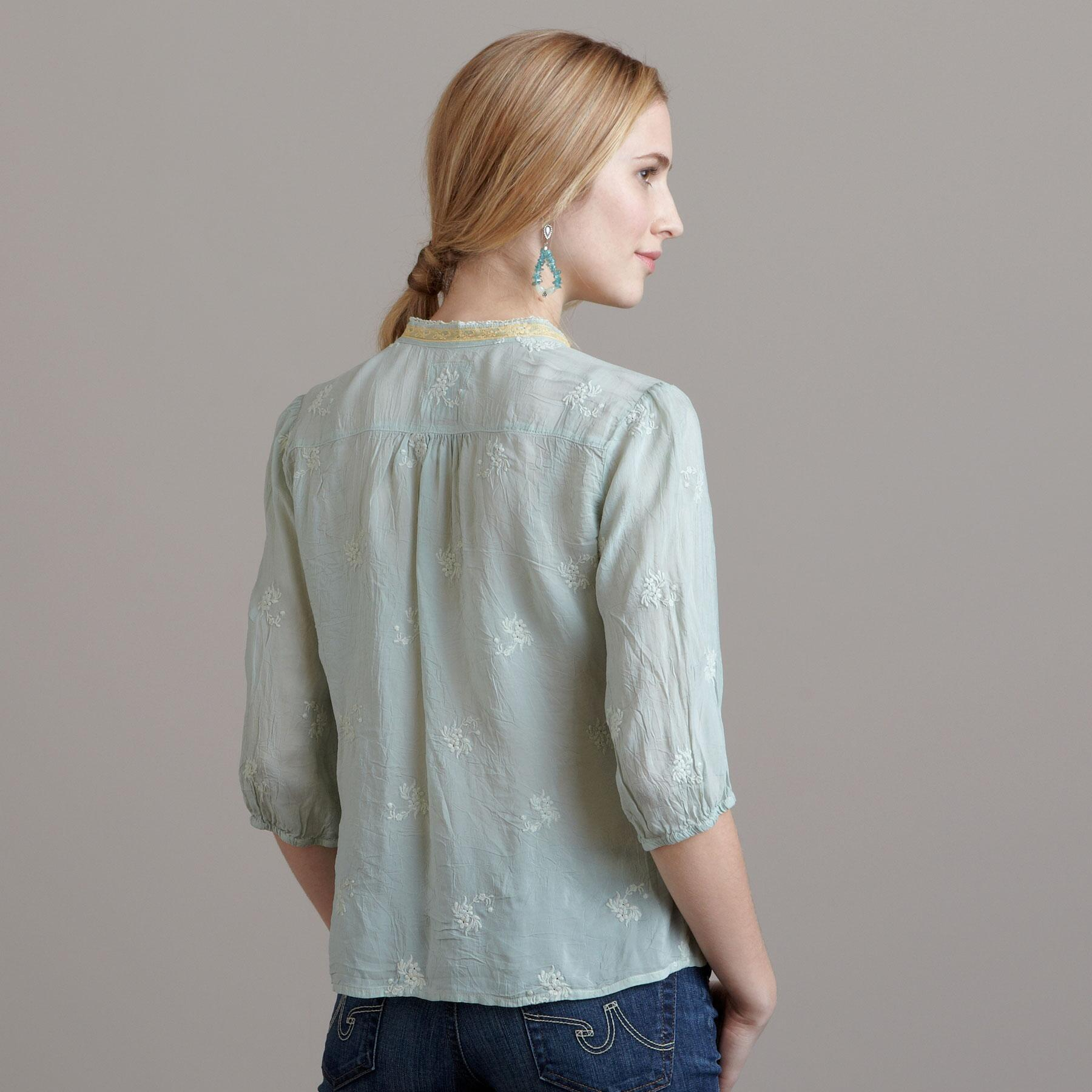 CELIE EMBROIDERED TOP: View 2