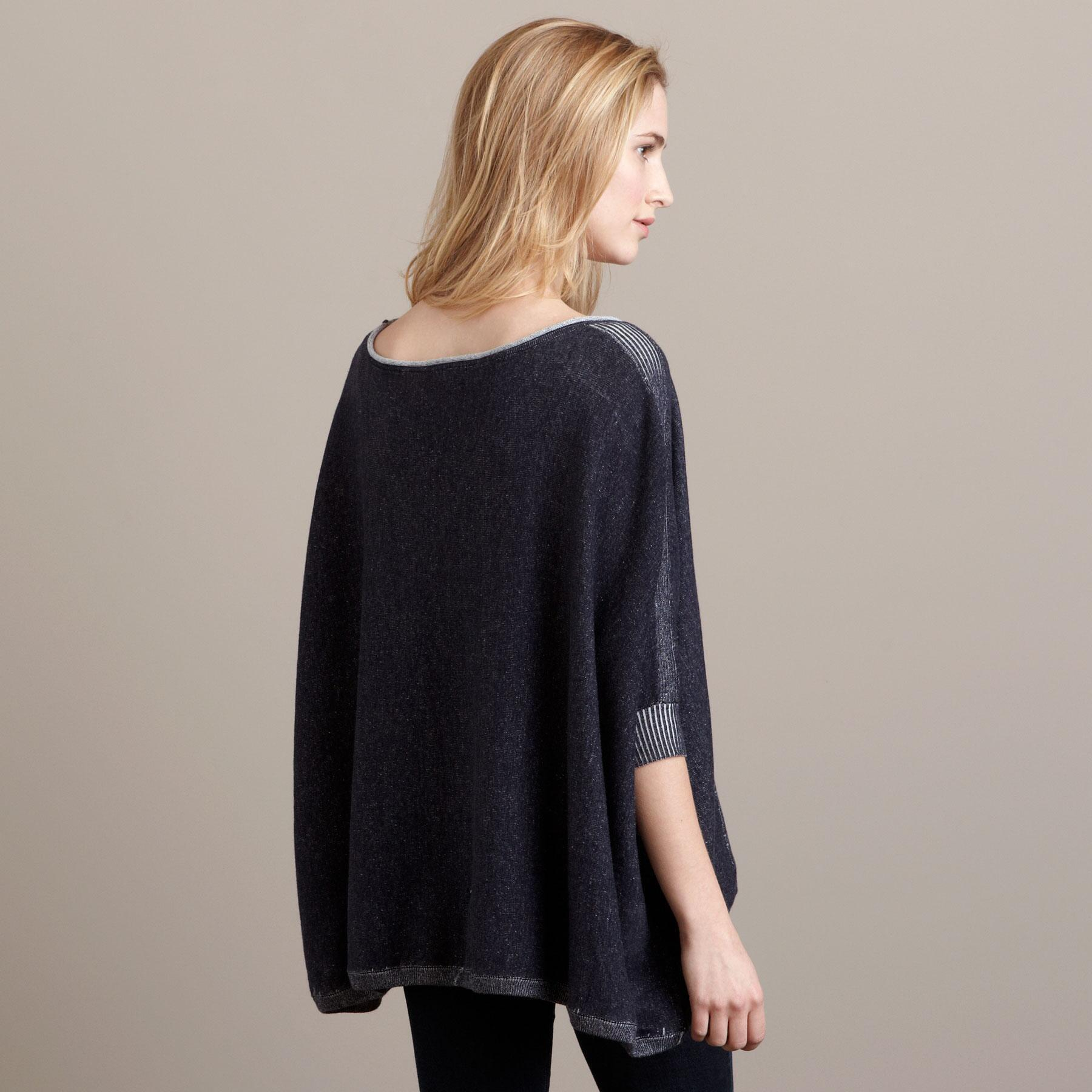 DENIM KNIT PONCHO: View 2