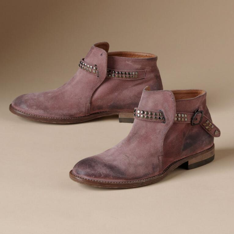 SUEDE OFFICER BOOTS