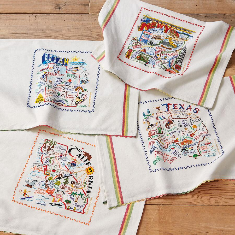 STATE SOUVENIR TEA TOWELS