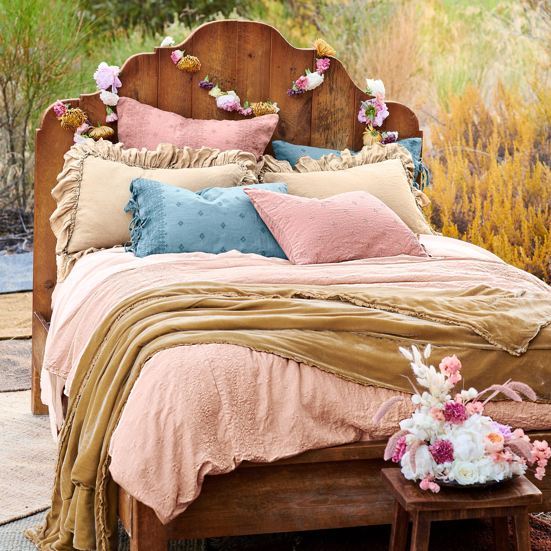 ANTIQUED PINE PROVENCE BED: View 3