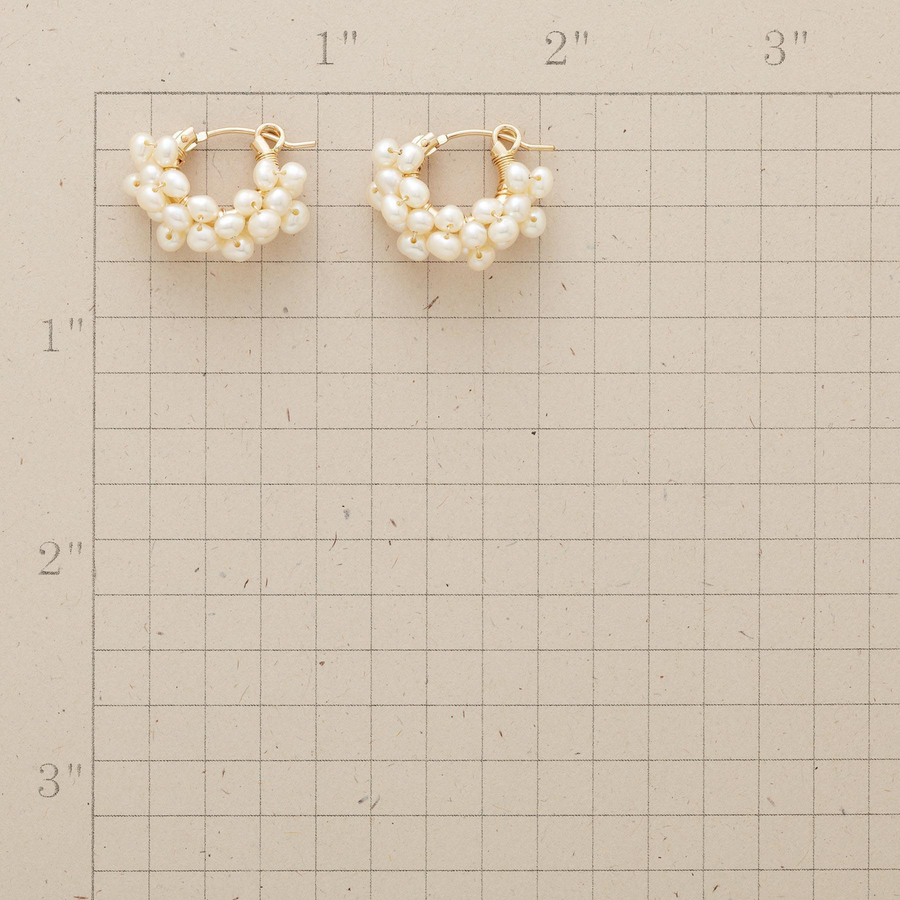 14KT GOLD FILLED FROTH OF PEARLS HOOPS: View 2