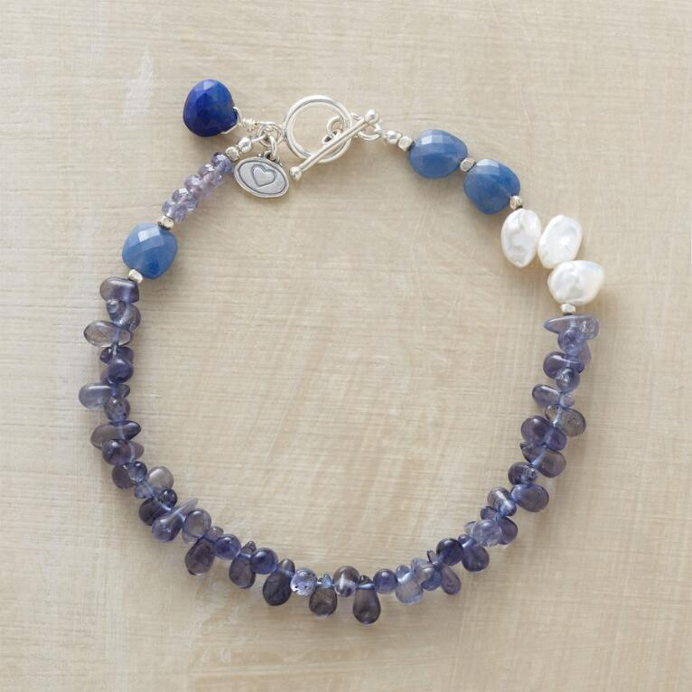 DOLLED UP DENIM BRACELET