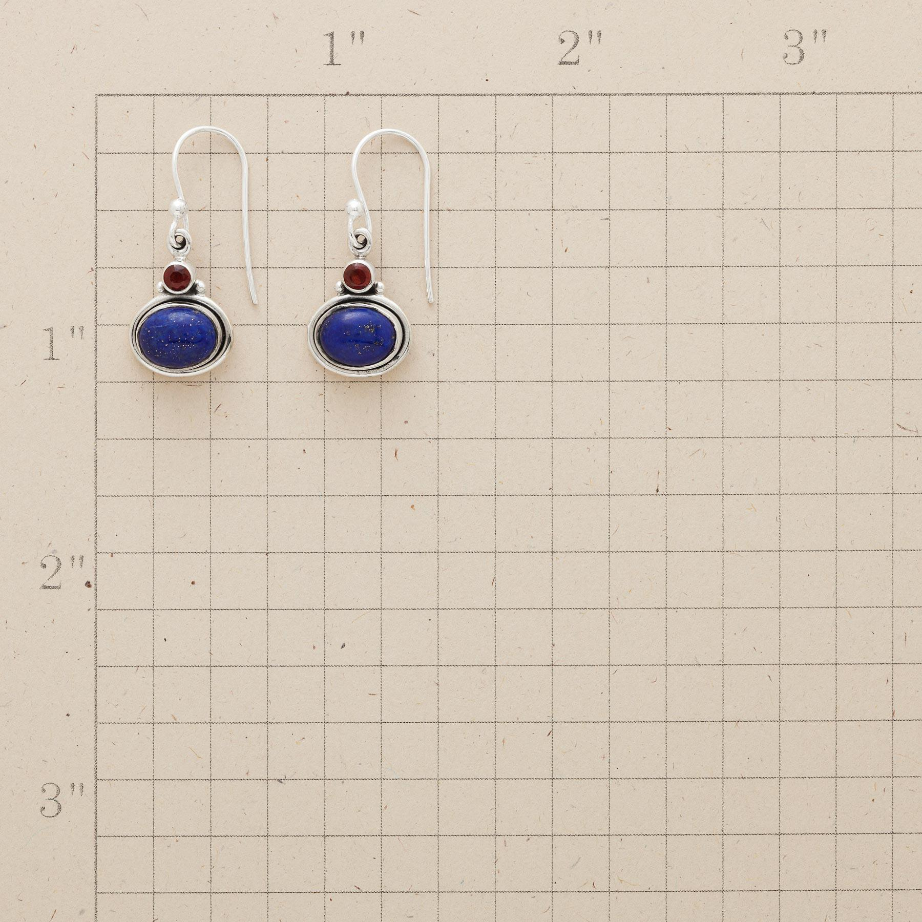 LAPIS & GARNET EARRINGS: View 2