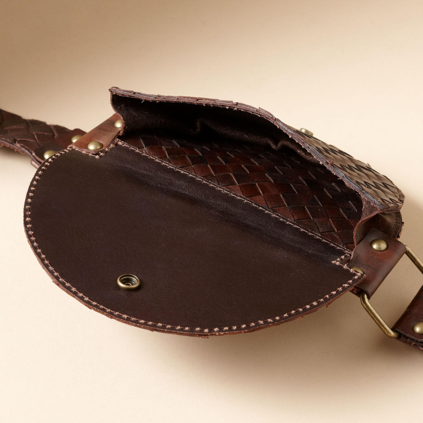 WOVEN LEATHER POUCH BELT: View 2