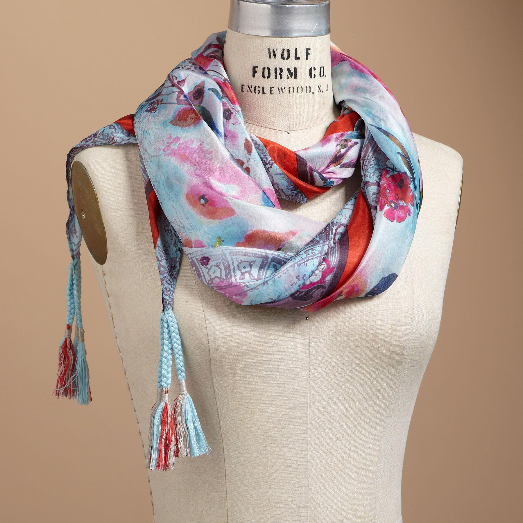 WATERCOLOR ROSE SCARF: View 1