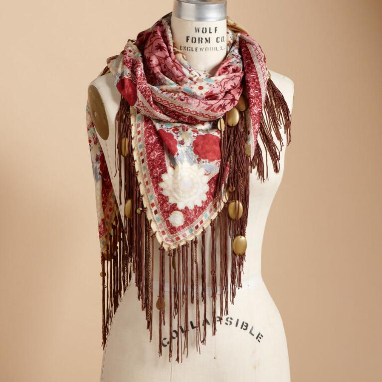 CHARMED SILK SCARF