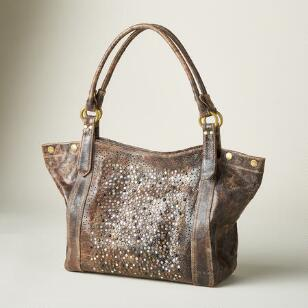 GO ANYWHERE GLITTER HANDBAG BY FRYE