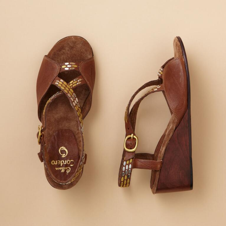SARA WEDGE SANDALS