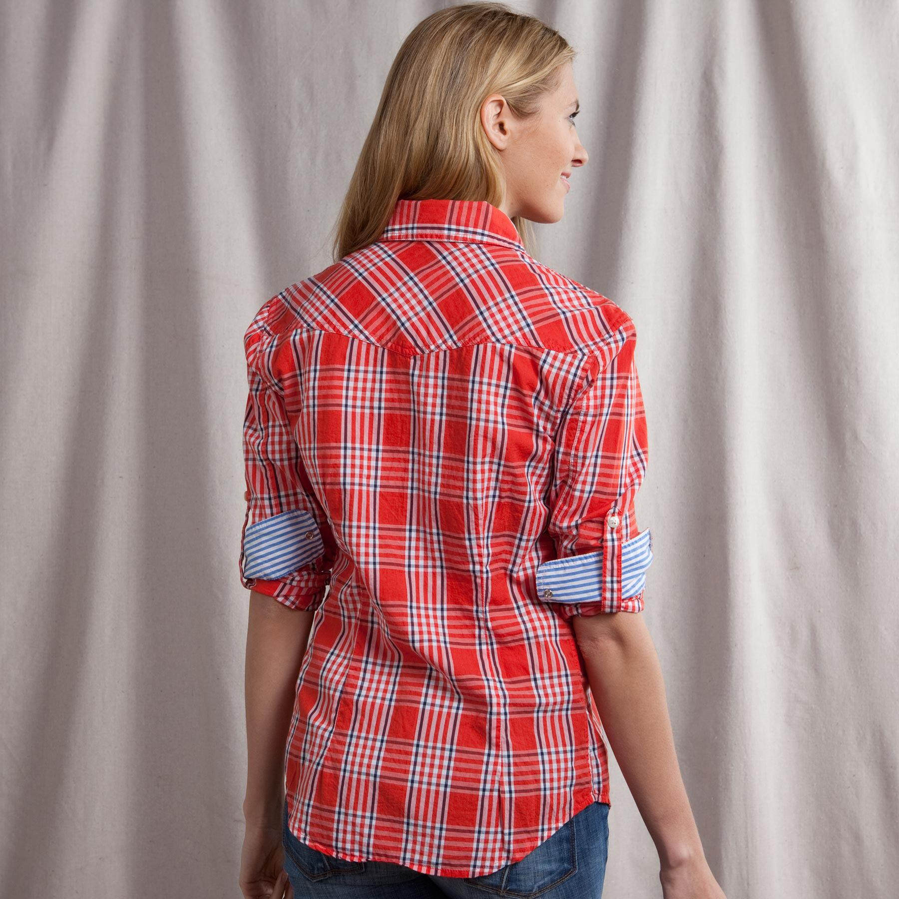 LINDY PLAID SHIRT IN RED: View 2