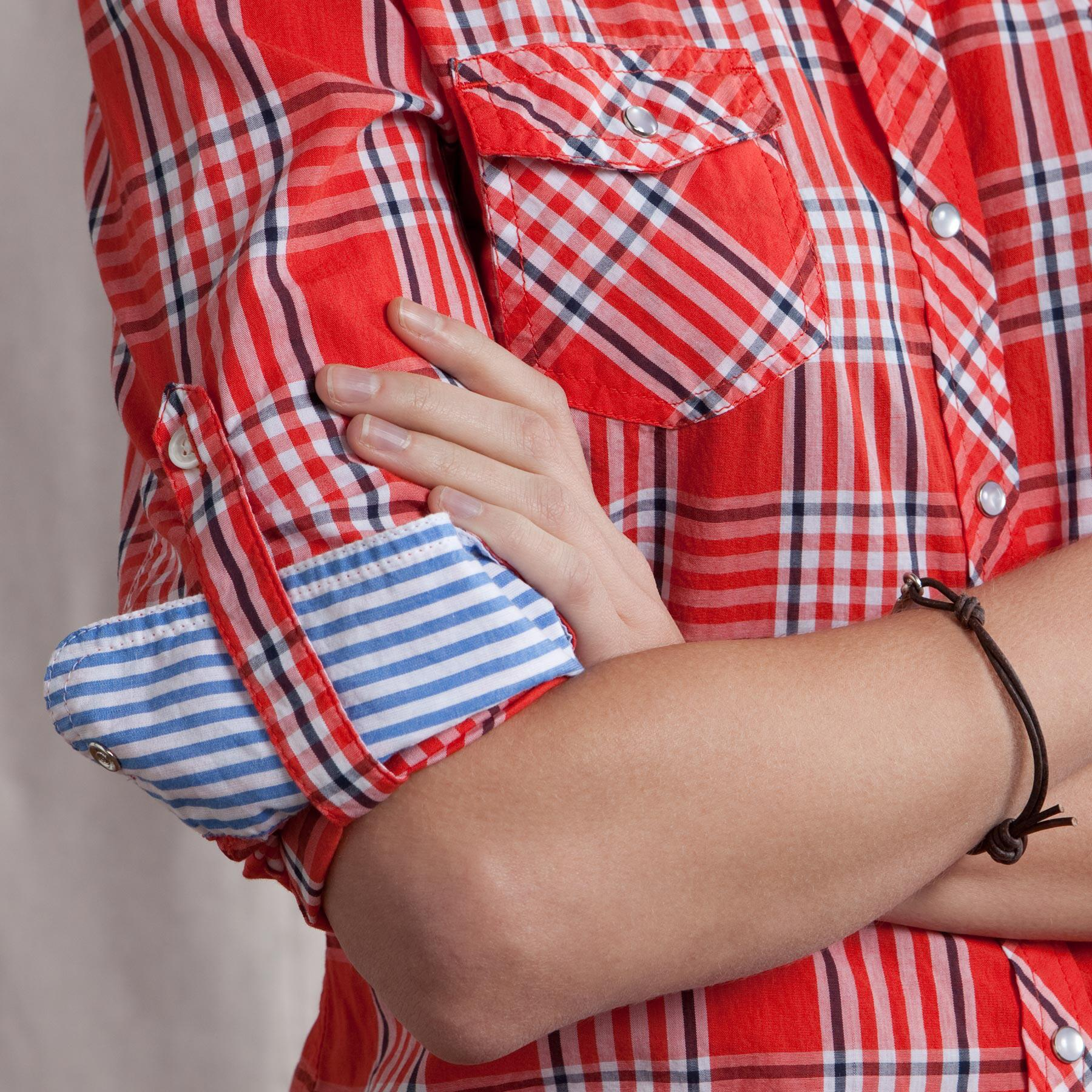 LINDY PLAID SHIRT IN RED: View 3