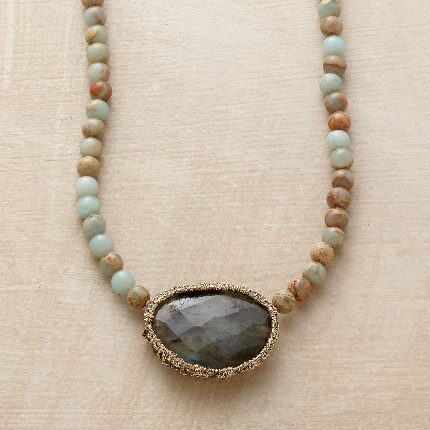 CAGED LABRADORITE NECKLACE: View 1