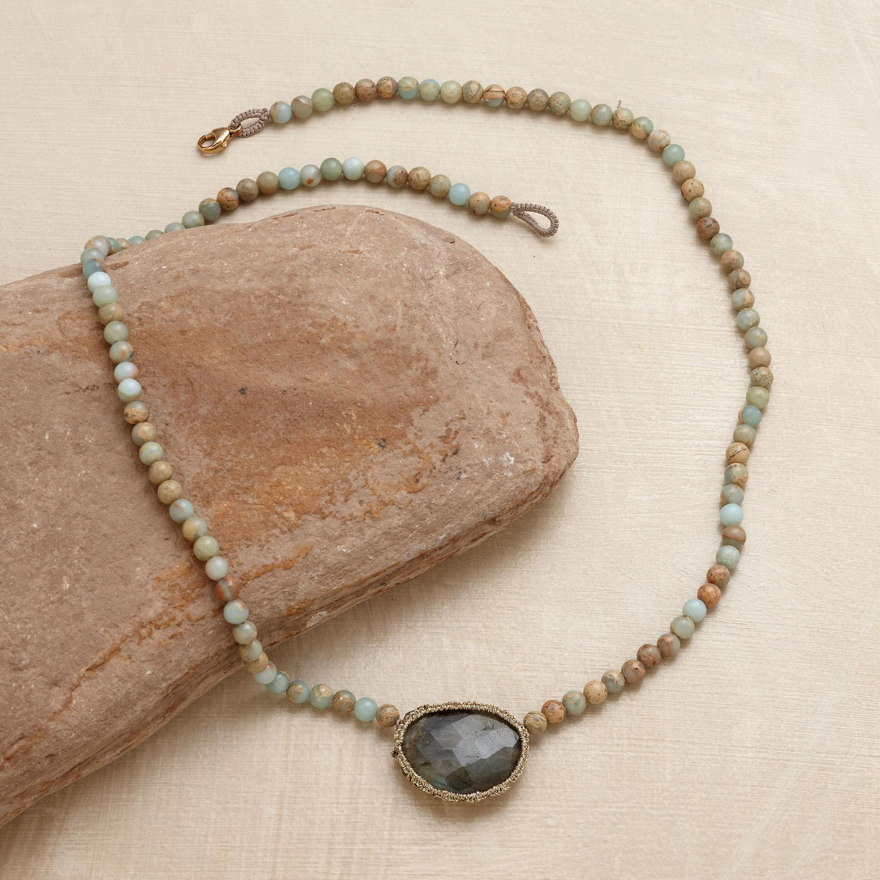 CAGED LABRADORITE NECKLACE: View 2