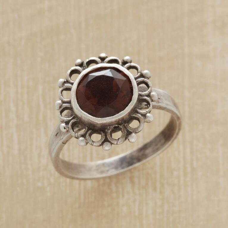 SMOKY QUARTZ FLOWER RING