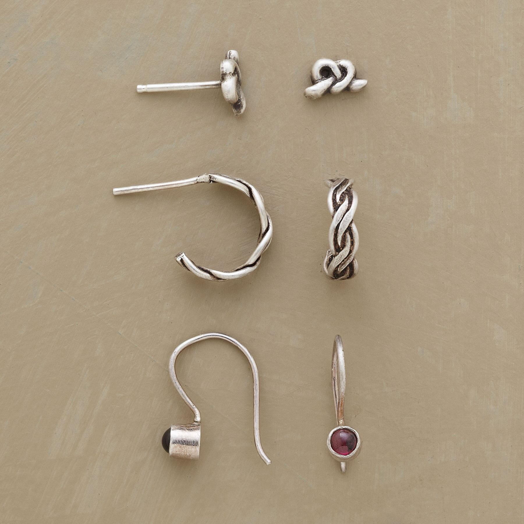 WHY KNOT EARRING TRIO: View 1